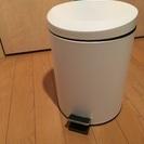 ペダル式ゴミ箱 白色 5リットル