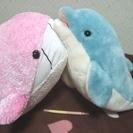 ★美品・大きなぬいぐるみ2個!!・イルカ&クジラ・小さなお子様の添...