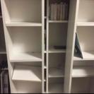 木製ラック ホワイト CDラック 本棚