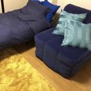 再出品&値下げ【残り1台】IKEAソファベッド(シングル)すのこマ...