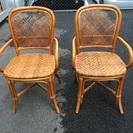 無料💕場所により配達も無料‼️籐の椅子‼️2脚 イス
