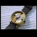 ★半額★エリート製!大ヒット♪アリスのうさぎ時計 ブラウン
