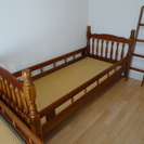 木製 二段ベッド 畳 1段でも2段でも使えます。