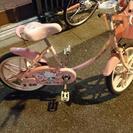 値下げしました キティちゃんの自転車