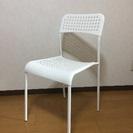 【IKEA】ADDEチェア ホワイト 2脚セット