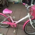 子供用ピンクの自転車