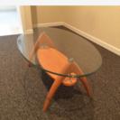 センターガラステーブル