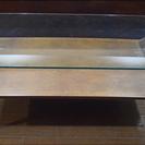 アトミックスタイルのガラスの天板のサイドテーブル