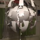 IKEA 照明 ペンダントランプ LEDランプ付き シルバー