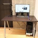 パソコンデスク 高さ調整可 学習机オフィスデスク