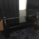 ブラック ガラステーブル