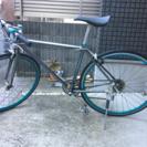 クロスバイク ブルー
