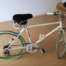 シマノ6段変速ギア★クロスバイク中古ホワイトグリーン