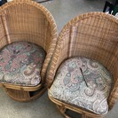 藤椅子2脚