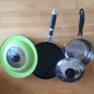 鍋、フライパン、皿、グラス等お譲りします