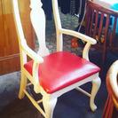 値下げ!椅子ー赤肘付きダイニングチェア 3つ