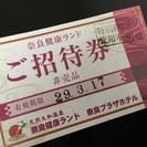 値下げ【非売品】奈良健康ランドの入場券