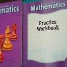 (洋書)米国の小5の算数の教科書とワークブック(中古)Gr.5 M...