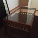ビーカンパニー ガラス×ウッドテーブル