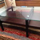 ガラストップローテーブル