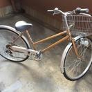 26インチ自転車 ゴールド 2014年11月購入