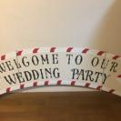 結婚式、パーティーに!ウエルカムボードです。