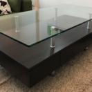 ニトリ ガラス天板 センターテーブル