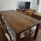 【引取のみ】広松木工ダイニングテーブルセット3年半使用