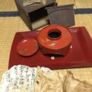 未使用、レトロ漆塗の盃