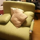 シングルソファベッド(黄緑)