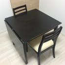 (値下げ)伸張式テーブル、椅子付き