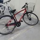 27インチ赤色の自転車を9千円で売ります。