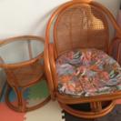 【取引中】籐の丸テーブルと椅子0円