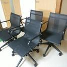 オフィスチェア4脚セット 椅子 とりに来れる方限定 久留米市