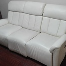 三人掛け白いソファー売ります。