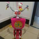 子供用補助輪付き自転車 三輪車