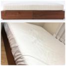 【中古美品】無印良品 セミダブル収納ベッド+マットレス+ベッドパッド
