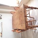 ダイニングテーブル(パイン材)&椅子4脚(2種類×2脚)