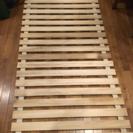 すのこベッド、すのこマット 天然木 桐製