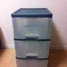 プラスチック製三段ボックス