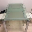 ガラスのお洒落テーブル5点セット