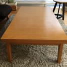 【美品】伸縮式木材ローテーブル リビングテーブル