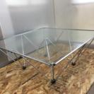 LC010647 デザインテーブル ガラステーブル リビングテーブル