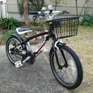 アルミフレームの18インチ子供用自転車