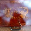 【美品】中国北京で買った木製ケース入り麻雀牌