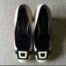 LAUTREAMONT 新品状態 白×黒 パンプス 23.0cm