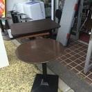 業務用テーブル焦げ茶色円形