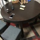 円卓とスツール セット