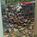 【アジアンテイスト】高さ調節可能なポスターフレームと水上マーケット...