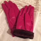皮手袋 ピンク新品